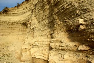 Route 4 Fyriplaka volcano perlite layers
